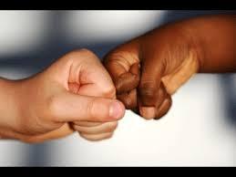white and black hand